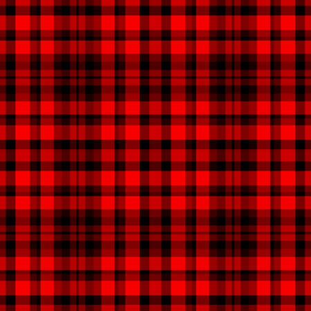 Tartan traditional checkered british fabric seamless pattern, black and red, vector Stock Vector - 24497427