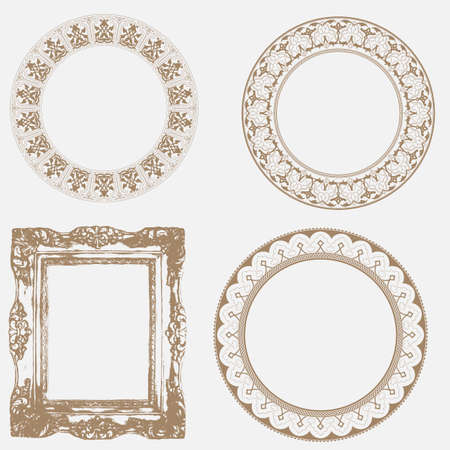 edwardian:  Vector Set of Baroque Frame Silhouettes