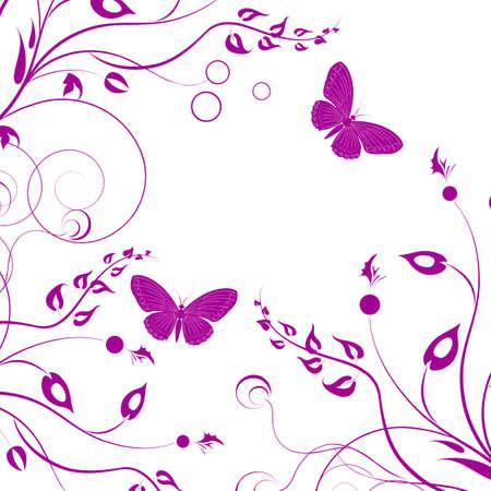 decor graphic: Sfondo con farfalla su uno sfondo bianco