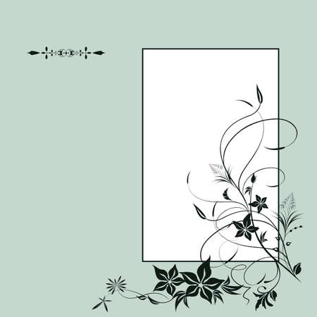 Vintage background with flowers. Elements for design. Vector