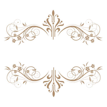 Elegant frame banner, floral elements. Vector illustration. Vector