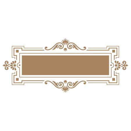 Elegant frame banner, floral elements. Vector illustration. Vector