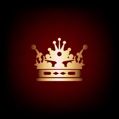 Elegant frame banner with crown illustration. Vector
