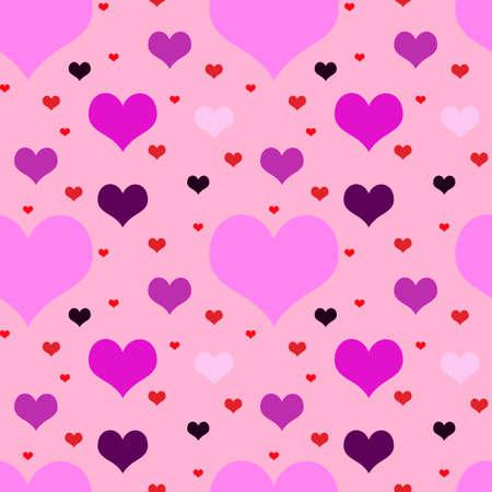 Vivid motley seamless valentine  pattern   Vector