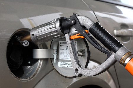 fueled: car fueled with gas Stock Photo