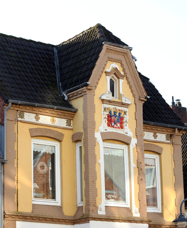 stucco facade: Facade of Art Novae buildings  Germany Editorial