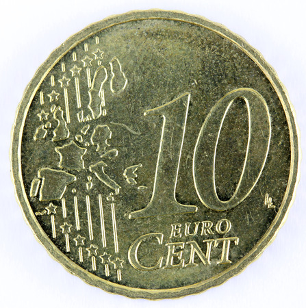 cents: 10 euro cents coin Stock Photo