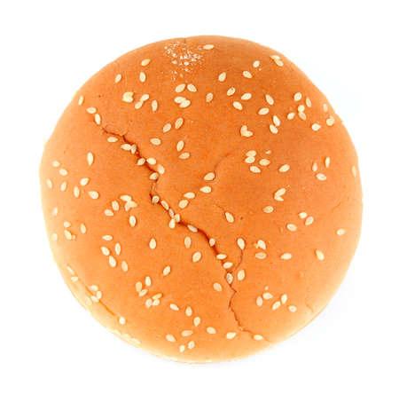 Hamburger bun on a white background isolated photo