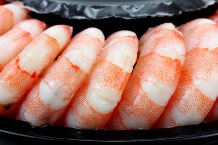 mariscos: Camarones. Gambas aislados en un fondo blanco. Mariscos Foto de archivo