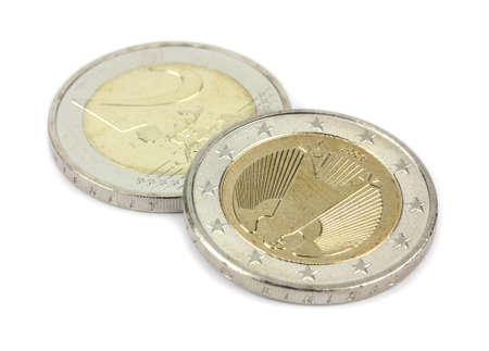 eur: 2 EUR coin - currency of the EU