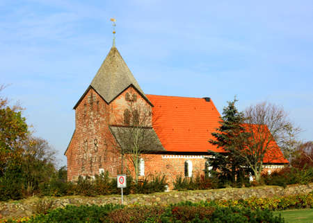 lutheran: old Lutheran church in northern Germany Stock Photo