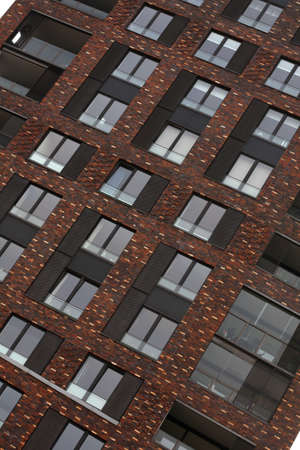 hypothec: Windows of apartment building