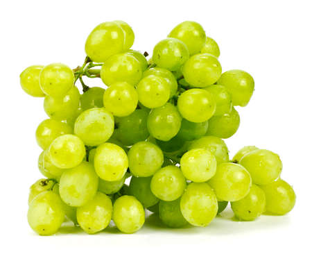 pip: Green grape isolated on white background