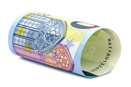 billets euro: Un rouleau de 20 Euro notes