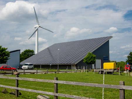 solar power station: Solar power station on roof