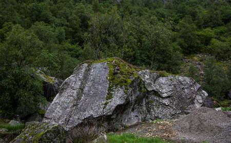 siberia: The stones in the taiga of Siberia Stock Photo