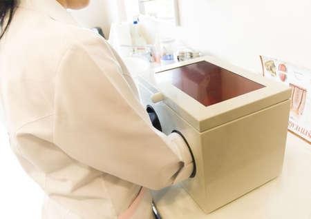 Dentist's Assistant Preparing X-Ray Stock Photo - 439798