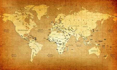 Detailed Old World Map Stock Photo - 439766