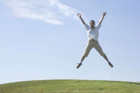 Young Man jumping photo