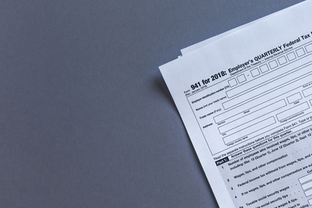 US TAX. Form 941. Quarterly payroll tax form for employer Stock Photo