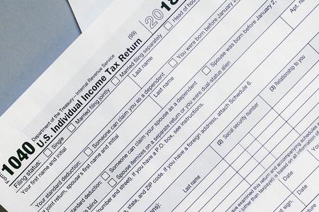 1040 tax form 2018. U.S Individual Income Tax Return 2018