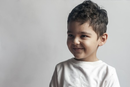Five year old Middle eastern boy smiling