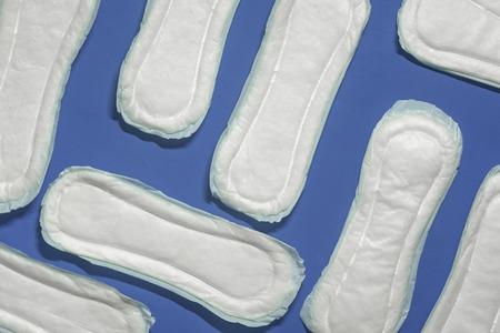 Menstrual concept. Feminine Hygiene or Pads or napkins for women. Medicine and women health Stock Photo