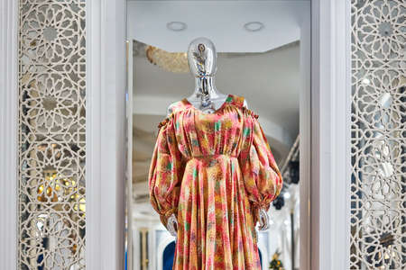 Fashion dress on mannequin in fashion home