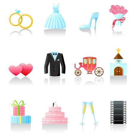 Conjunto de iconos de boda. Parte 2