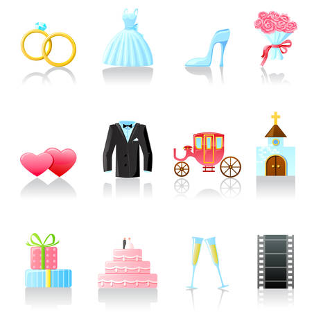Set of  wedding icons. Part 2 Vector