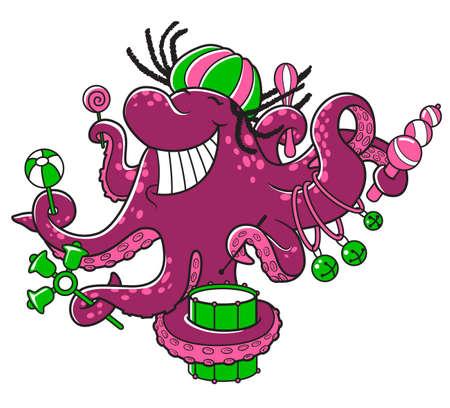 Octopus-orchestra Vector