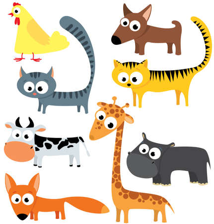 collection of cute animals. Part 1 Stock Vector - 7247088