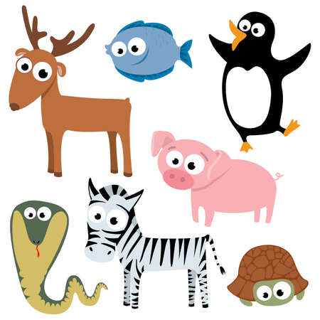 collection of cute animals. Part 3 Vector