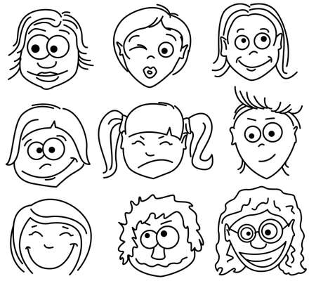 Faces icons. Part2 - female avatars. Stock Vector - 7247095
