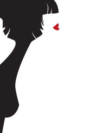 The stylised female profile Vector