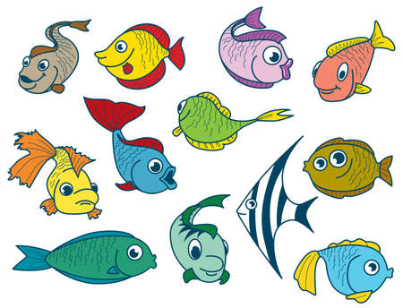 Fish set Stock Vector - 7247093