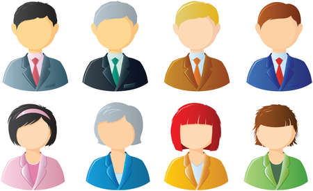 human resources manager: icons of office people