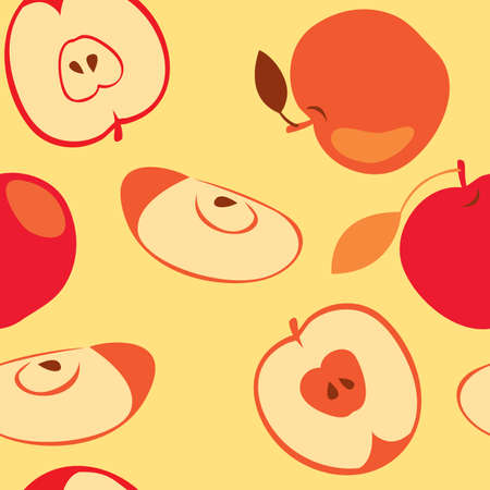 Red apple seamless Vector