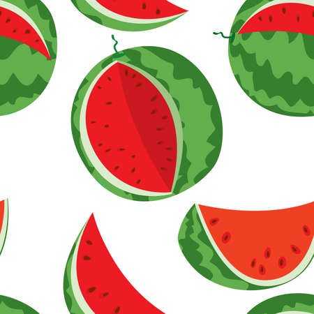 Watermelons seamless Vector