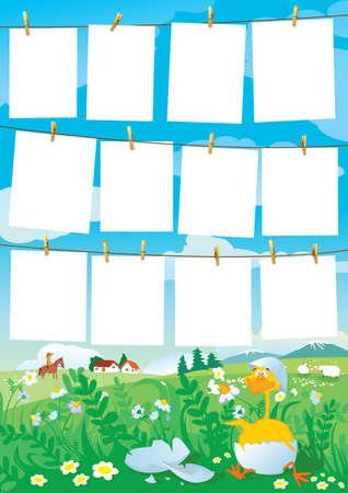 Template for children's photos Stock Vector - 7255355