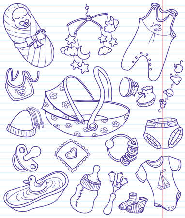 bootee: Baby doodles set, illustration