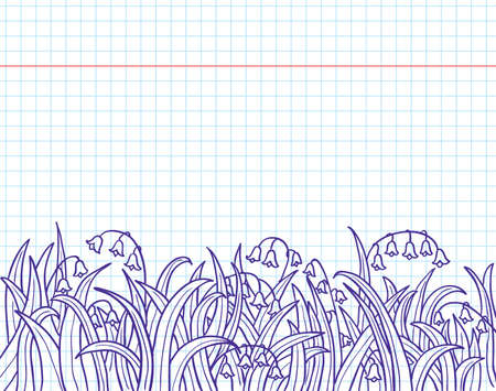 fun grass: Doodles with grass and lily of the valley