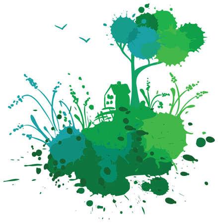 bilding: Grunge ecology landscape