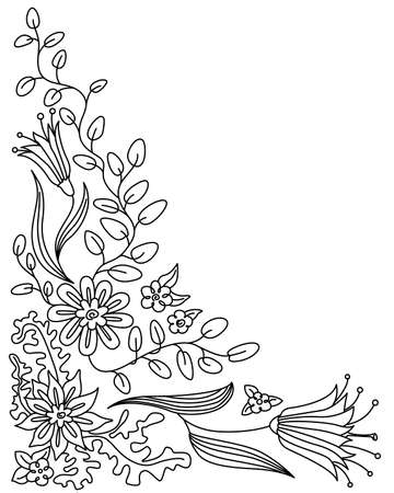 Abstract floral doodle  frame Vector