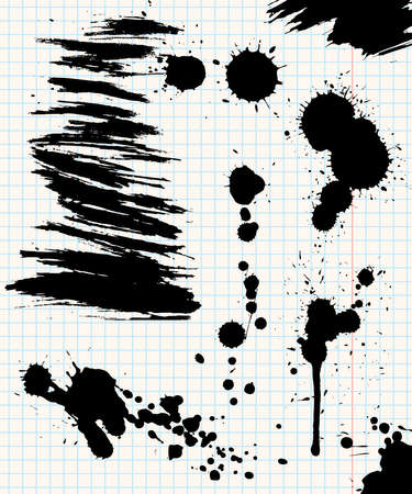 Ink stains Vector