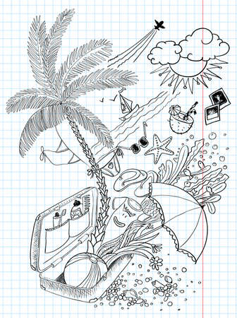 Holiday (travel) doodles Vector