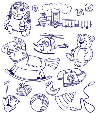 Collection of doodles toys Stock Vector - 7261895