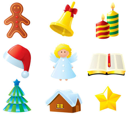 Christmas icons set. Part 2 Vector