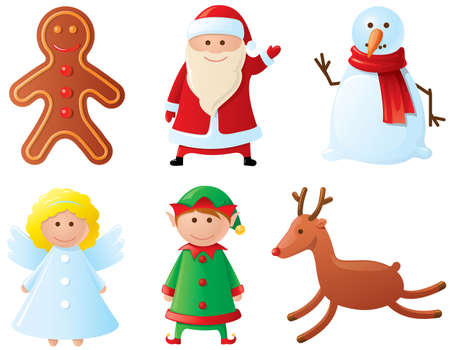 Christmas icons set. Part 3 (characters) Illustration