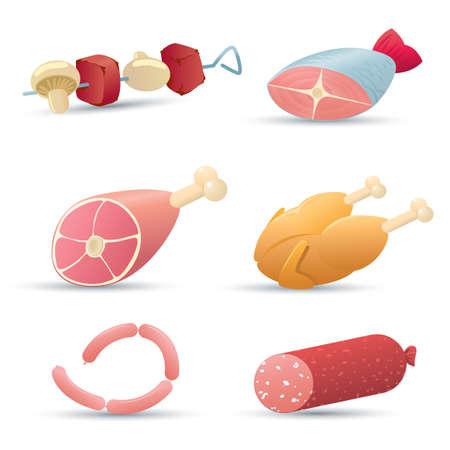 animal leg: Iconos de alimentos (carne). Parte 1